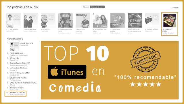 TapeandoRadio Tapeando Radio Top10 Top10itunes itunes Top